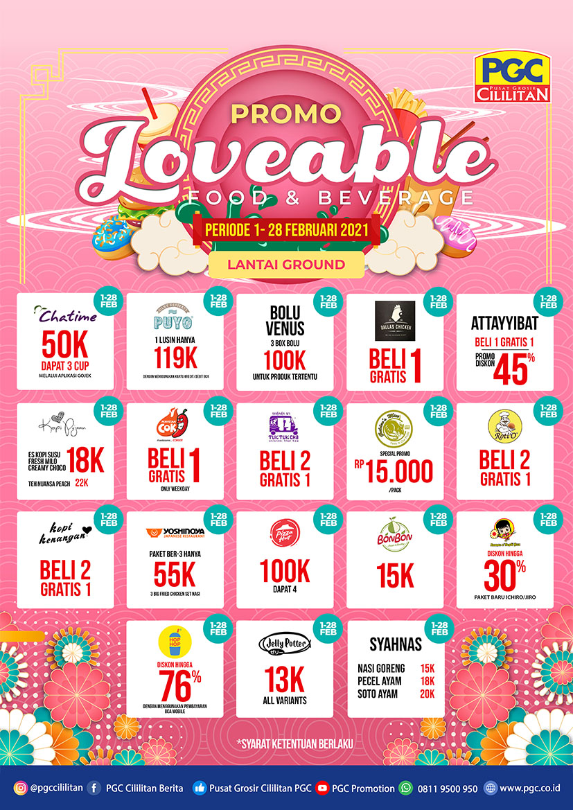 PROMO LOVEABLE F&B