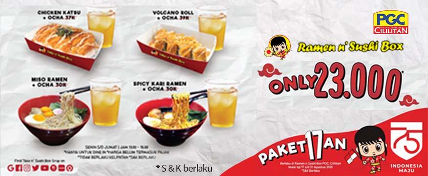 Paket Promo 17an Ramen n' Sushi Box